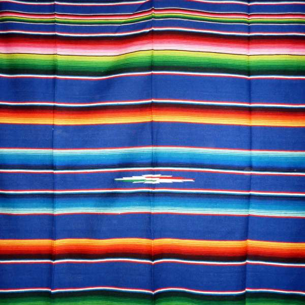 Mexican Blanket Multicolour Dark Blue No15