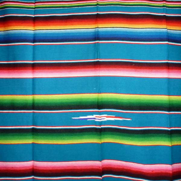 Mexican Blanket Multicolour Light Blue No14