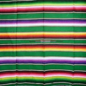 Mexican Blanket Multicolour Light Green No1