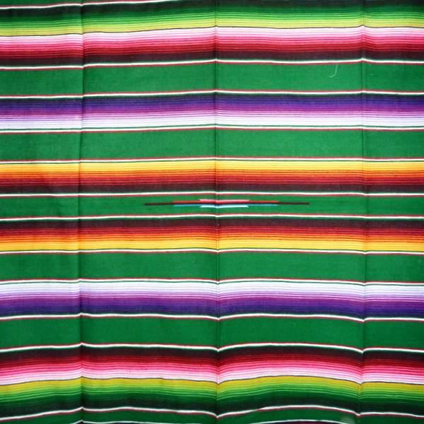 Mexican Blanket Multicolour Light Green No1