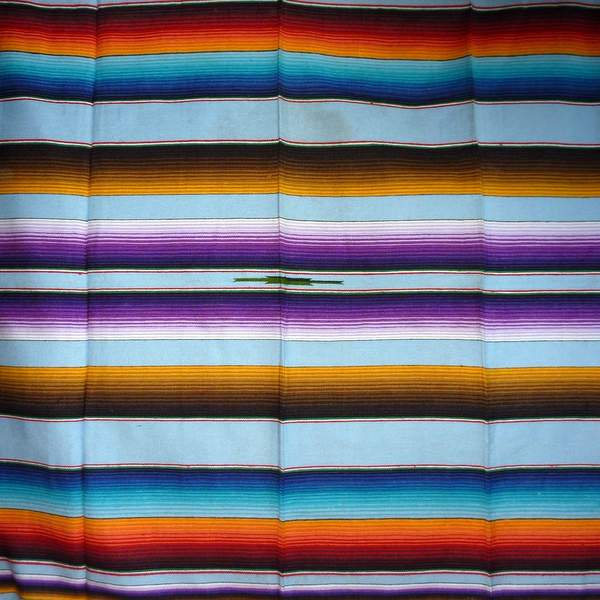 Mexican Blanket Multicolour Powder Blue No8
