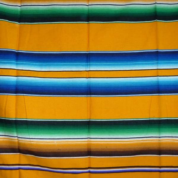 Mexican Blanket Multicolour Yellow No7
