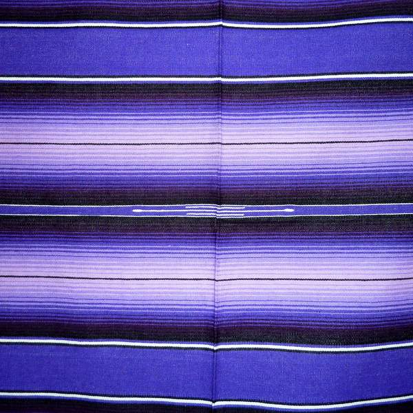 Mexican Blanket Purple And Black No3