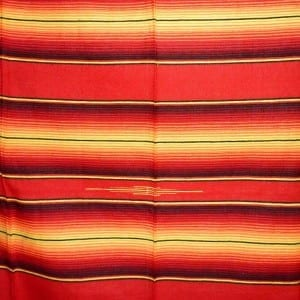 Mexican Blanket Red And Yellow No8