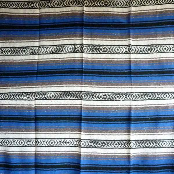 Mexican Falsa Blanket Dark Blue Grey No1