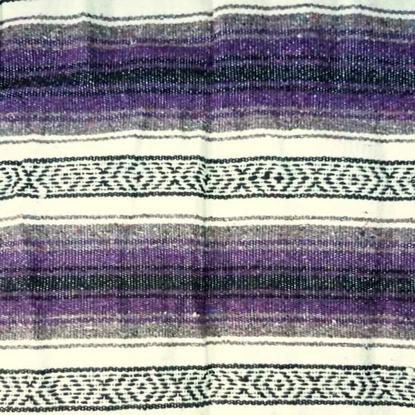 Mexican Falsa Blanket Purple And Grey No2