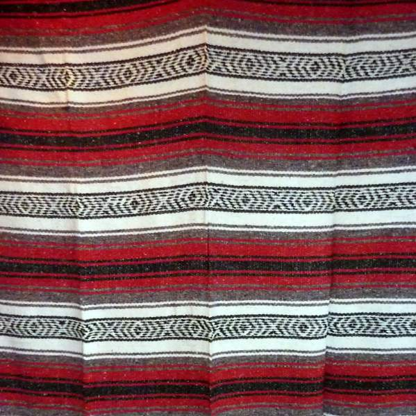 Mexican Falsa Blanket Red No9