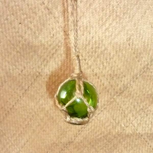 Nautical 5cm Green Glass Float