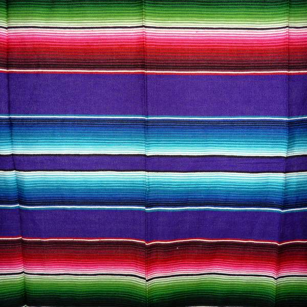 Mexican Blanket Multicolour Purple No16
