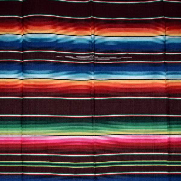 Mexican Blanket Multicolour Burgundy No15