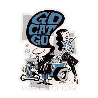 Poster Pop Derek Yaniger Go Cat Go Sticker DYS21