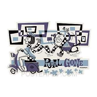 Poster Pop Derek Yaniger Real Gone Scooter Sticker DYS04