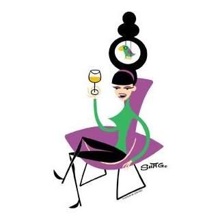 Poster Pop Shag The Bird Chair Sticker SHS64