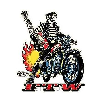 Poster Pop Vince Ray Biker FTW Sticker VRS45