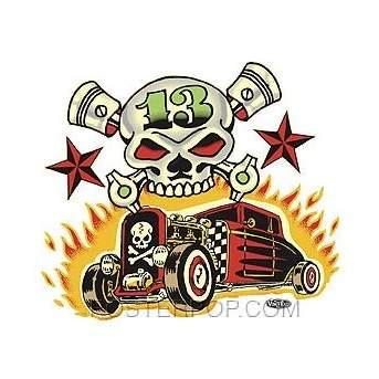 Poster Pop Vince Ray Skull N Rods Sticker VRS33