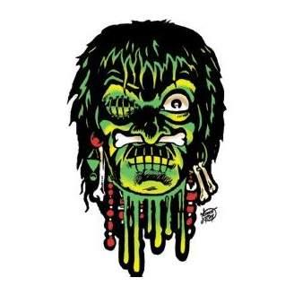Poster Pop Vince Ray Voodoo Skull Sticker VRS14