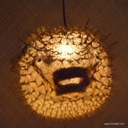 Extra Large Puffer Fish Lamp Clear 2