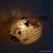 Vintage Style Large Puffer Fish Lamps 2