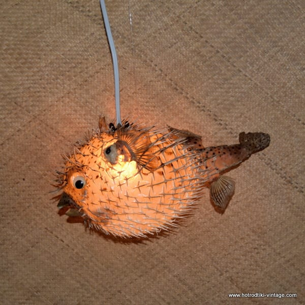 Vintage Style Large Puffer Fish Lamps 3