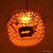 Extra Large Puffer Fish Lamp Orange 2