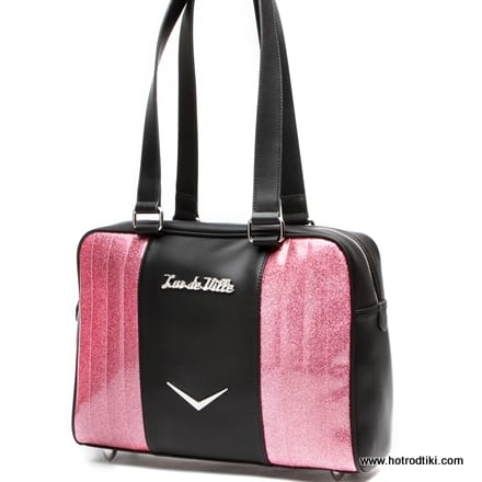Lux De Ville 'Carry All' Tote Bag - Black Matte with Pink Bubbly Flake