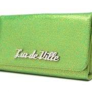 Lux De Ville Miss Lux Wallet Green Flake