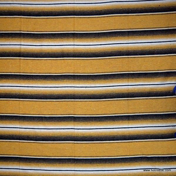 Mexican Blanket - Cotton Saltillo No 01 - Mustard