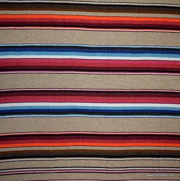 Mexican Blanket - Cotton Saltillo No 02 - Beige