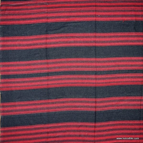 Mexican Blanket - Two Coloured No 19 - Red & Black