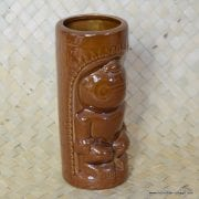 Vintage DW114 Brown Tiki Mug 3