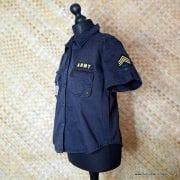 Vintage Style US Army Black Short Sleeved Shirt 4