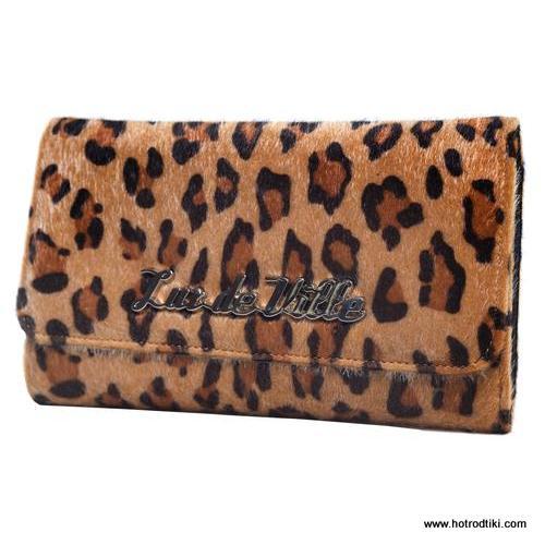 Lux De Ville Black Dahlia Brown Leopard Wallet 1-001
