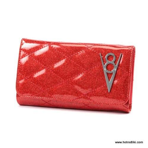 Lux De Ville Hot Rod Red Venom Wallet 1-001